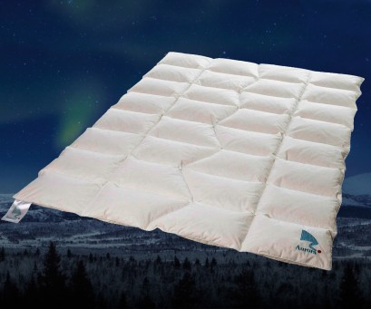 """Edredón nórdico de plumón Noruego """"Aurora"""" - FP 750 con algodón orgánico"""